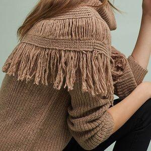 Chloe Oliver Fringed Mock Neck Pullover